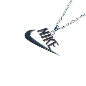 Nike Spellout Silver Necklace